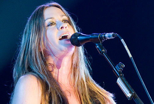 Alanis Morissette. Performing a live concert in the Espacio Movistar, Barcelona, June 2008. Source: livepict.com Licensed under CC BY-SA 3.0 Image was cropped for use.